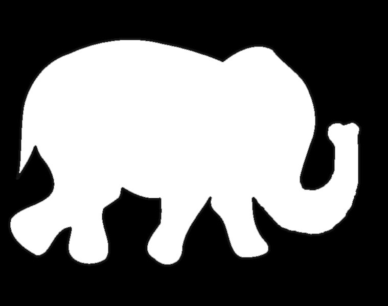 Elephant Cut Out Template Graphic Monday Elephant Strand