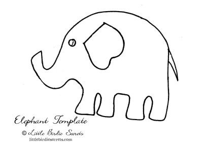 Elephant Cut Out Template Inkingpink Pink Elephants Parade