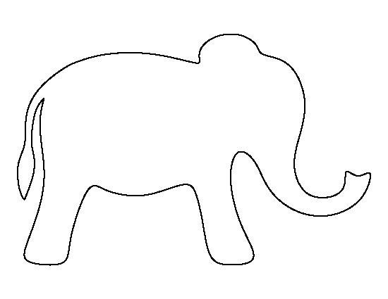 Elephant Cut Out Template Pin by Muse Printables On Printable Patterns at