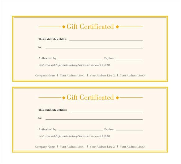 Email Gift Certificate Template Download Email Restaurant Gift Certificate Template for