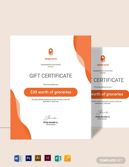 Email Gift Certificate Template Free Graphy Gift Certificate Template Download 436