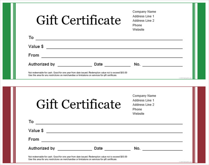 Email Gift Certificate Template Get A Free Gift Certificate Template for Microsoft Fice