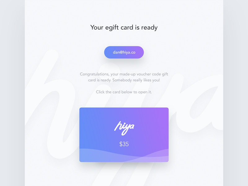 Email Gift Certificate Template Gift Card Email Template by Dan Baker Dribbble