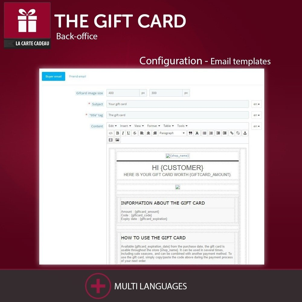 Email Gift Certificate Template Gift Certificate Email Template