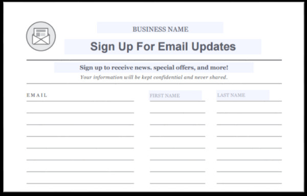 Email Sign Up Template 15 Creative Ways to Grow Your Email List