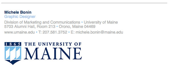 Email Signature College Student Email Signature Branding toolbox University Of Maine