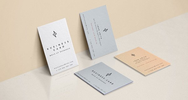 Embossed Business Card Mockup 54 Free Business Card Mockups Ai Word Psd