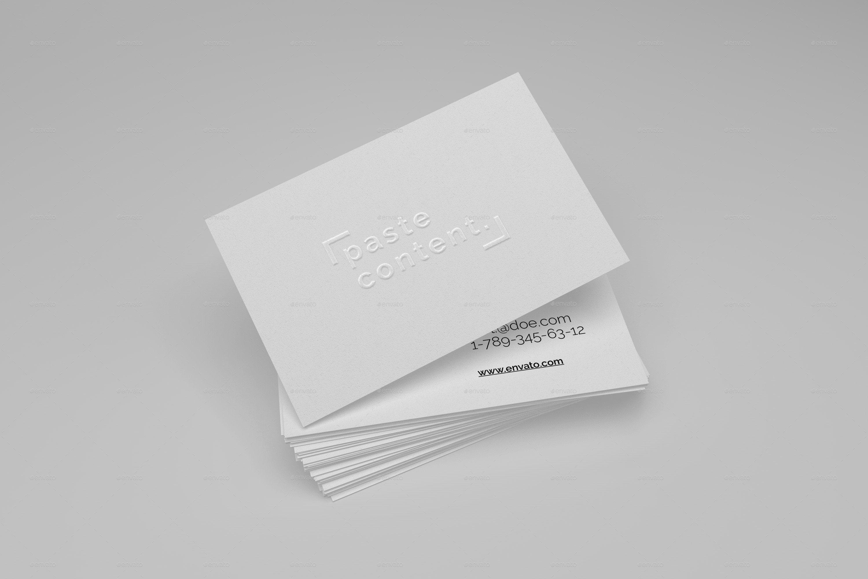 Embossed Business Card Mockup Business Cards Mock Ups Big Pack Vol 1 by Ruslansh