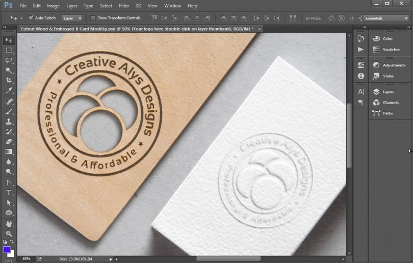 Embossed Business Card Mockup Cutout Wood & Embossed Business Card Mockup – Creative Alys