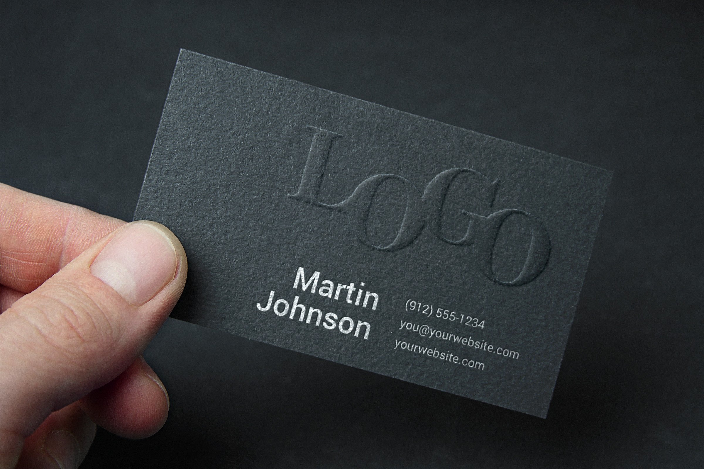 Embossed Business Card Mockup Embossed Business Card Mockup 2
