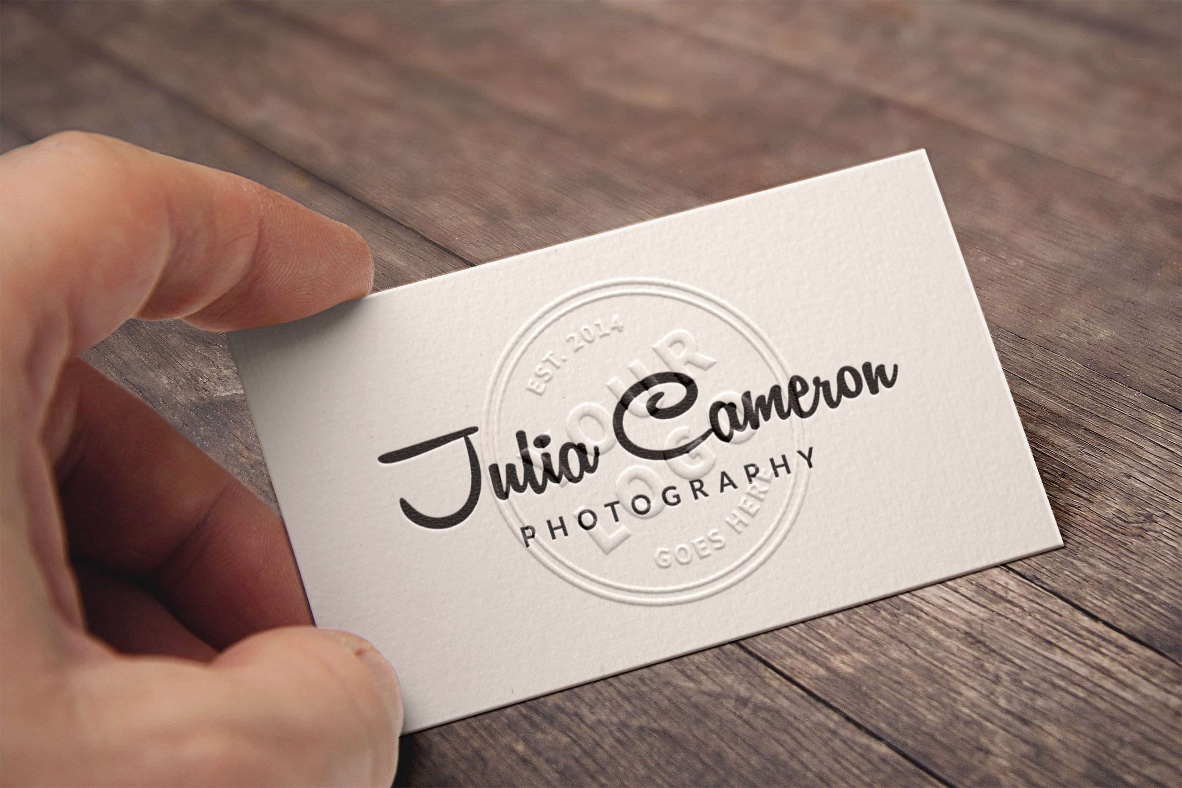 Embossed Business Card Mockup Embossed Business Card Mockup