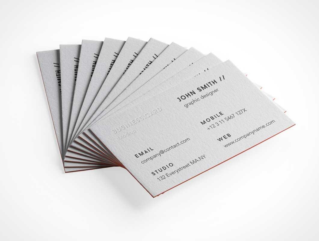 Embossed Business Card Mockup Psd Mockups 26 202 Psd Mockups