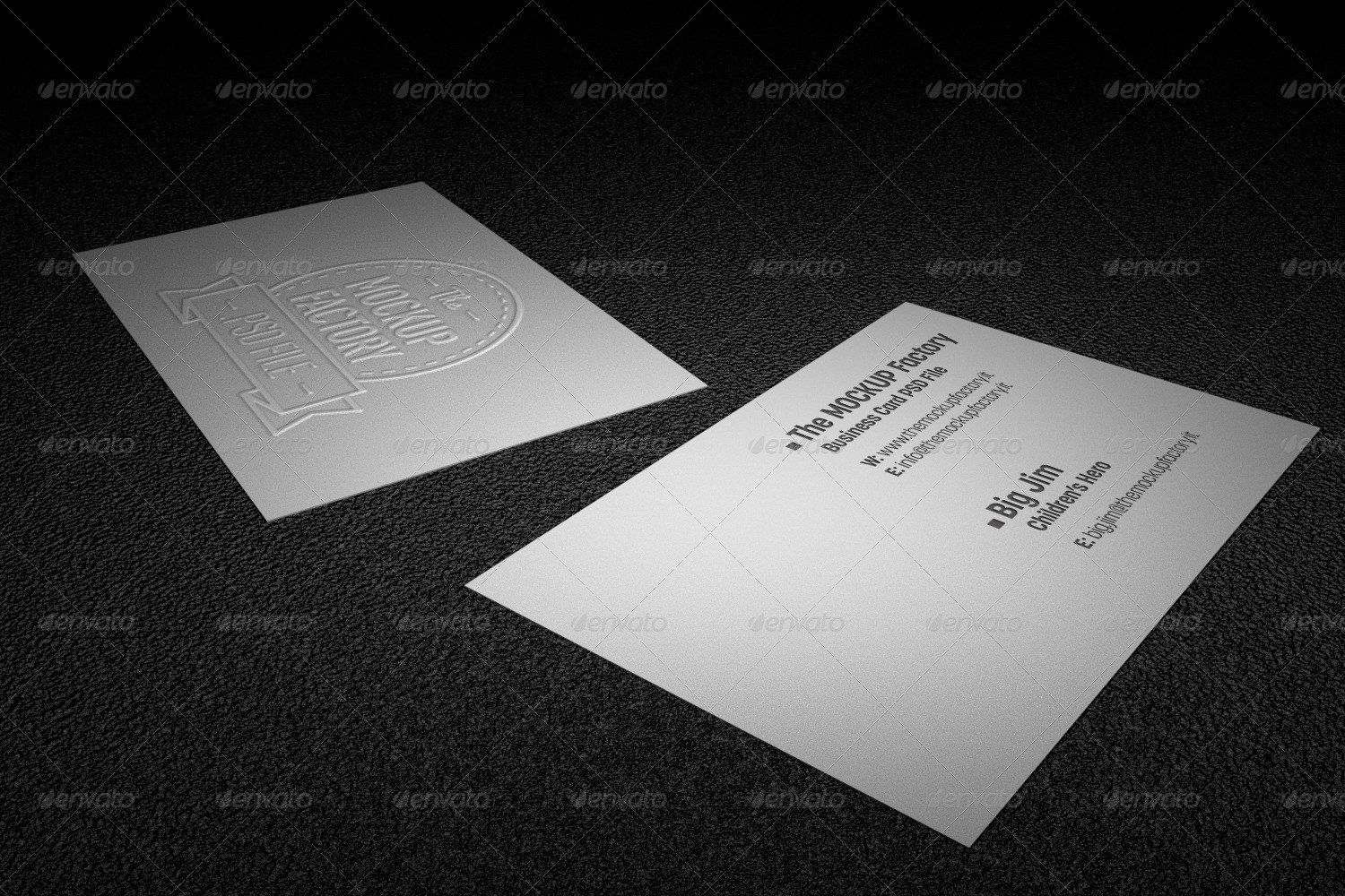 Embossed Business Card Mockup Realistic Embossed Business Card Mockup by