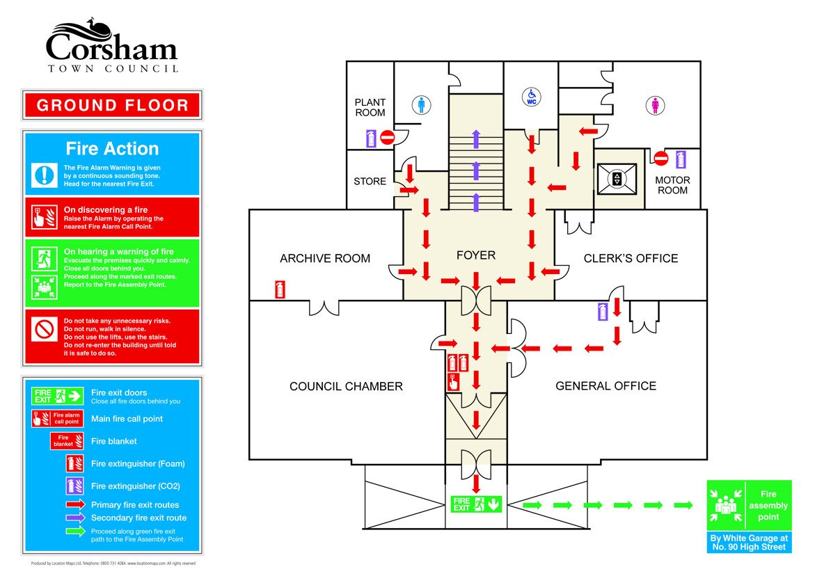 Emergency Evacuation Map Template Fire Evacuation Plans Fire Escape Plans and Fire assembly