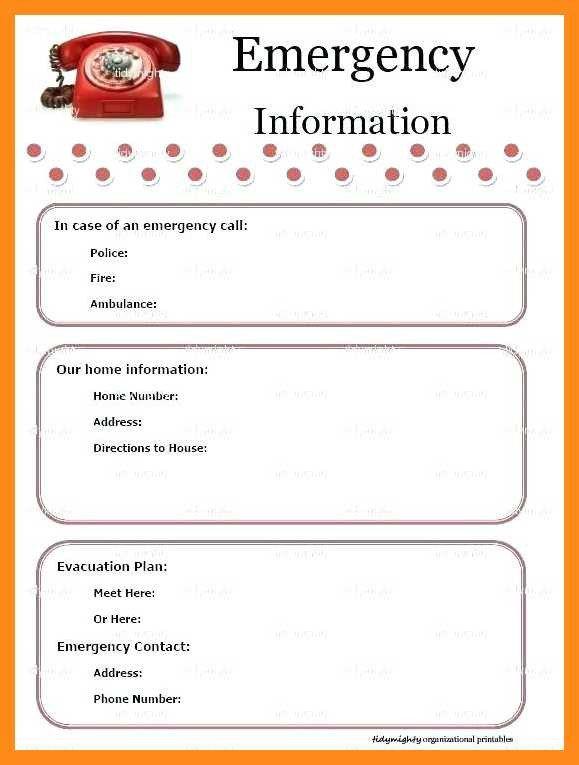 Emergency Phone Numbers Template 12 13 Emergency Numbers List Template