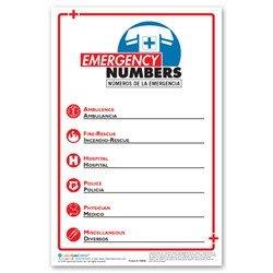 Emergency Phone Numbers Template Emergency Phone Number Poster