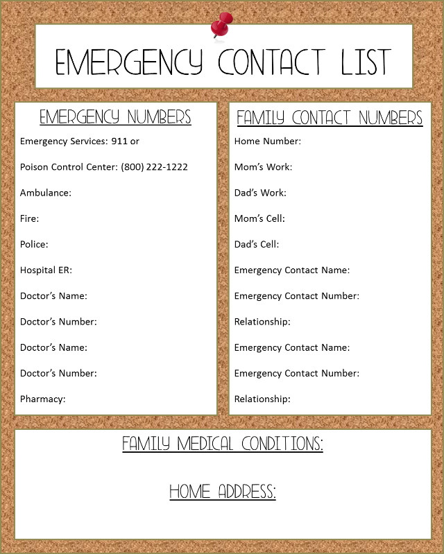 Emergency Phone Numbers Template How to Stock A First Aid Kit Grace and Good Eats