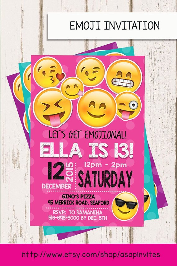 Emoji Birthday Invitation Template Emoji Birthday Invitation Emojis Emoji Invite by