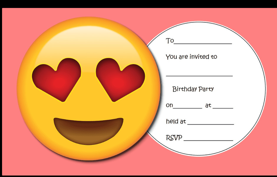 Emoji Birthday Invitation Template Throw the Ultimate Emoji Party