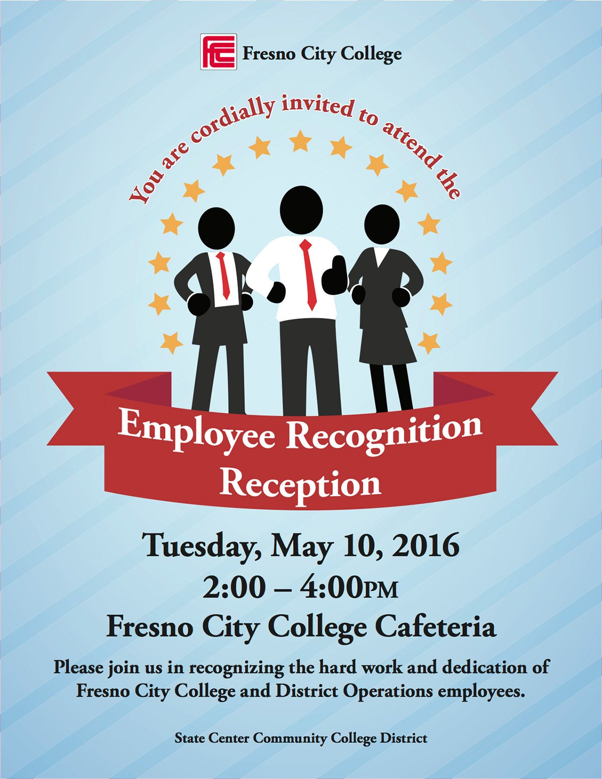 Employee Appreciation Day Flyer Template Employee Recognition Reception Flyer On Behance