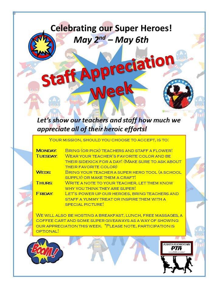 Employee Appreciation Day Flyer Template Juanita Elementary Pta
