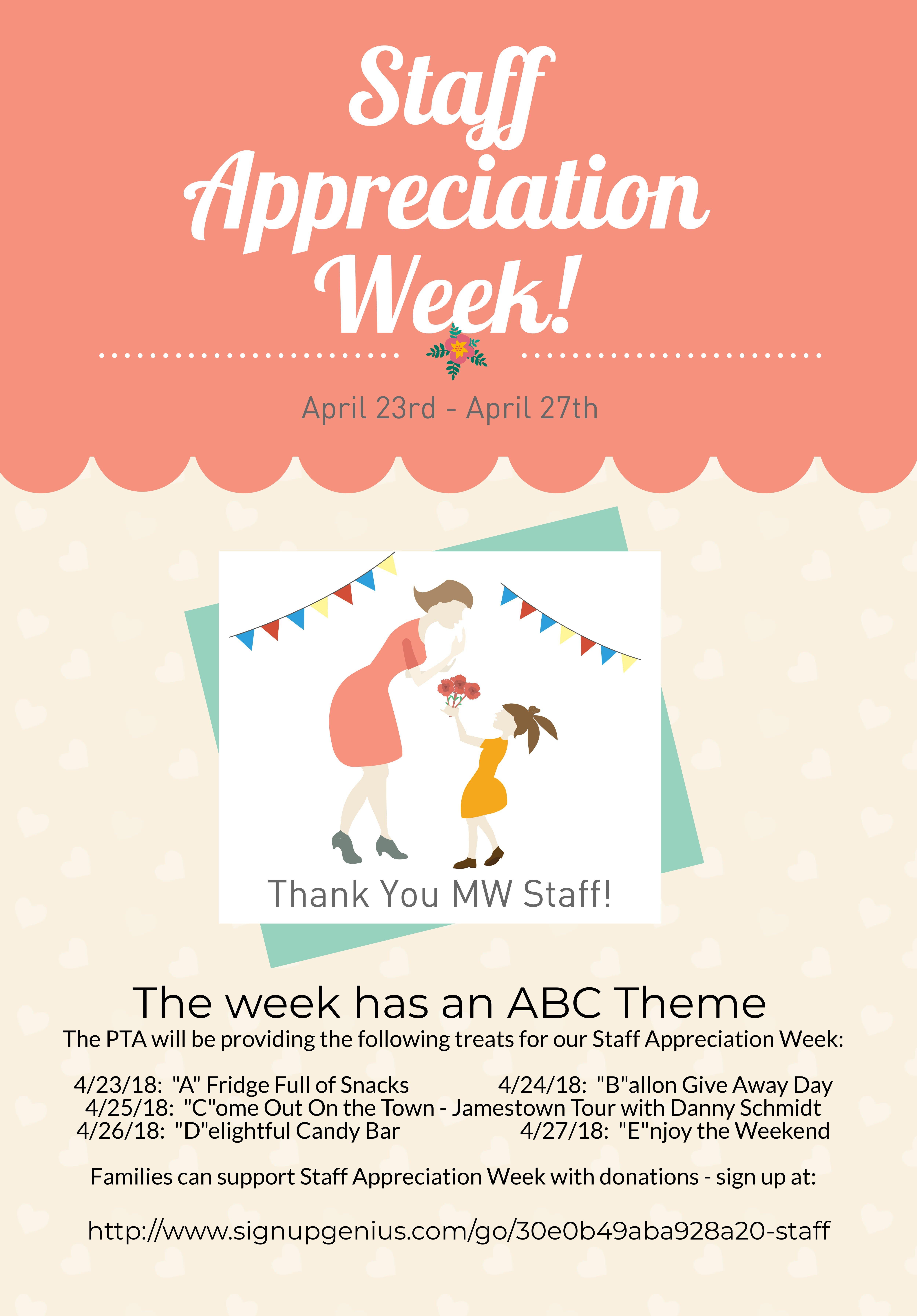 Employee Appreciation Day Flyer Template Staff Appreciation Week April 23 27 – Matthew Whaley