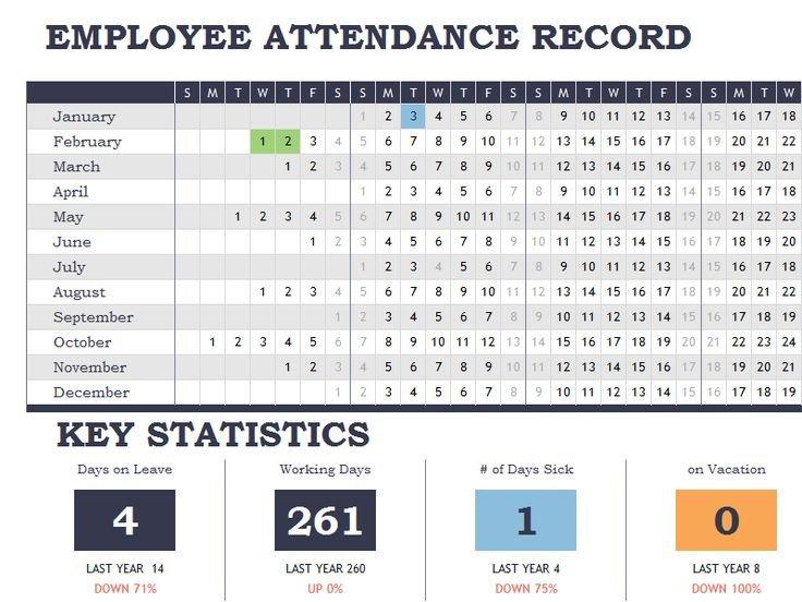 Employee attendance Tracker Excel Template Employee attendance Tracker Calendar Sheet Template