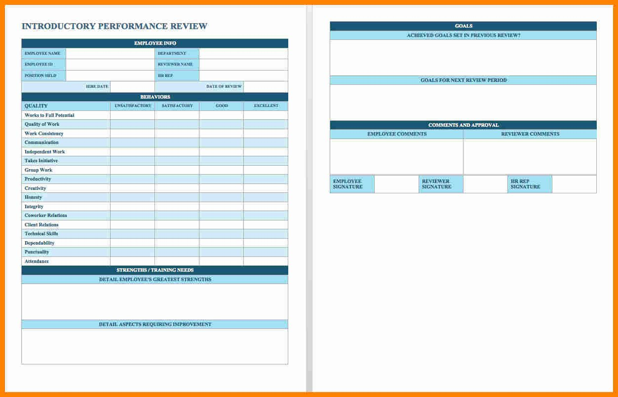 Employee Evaluation Template Excel 29 Of Performance Evaluation Template Excel
