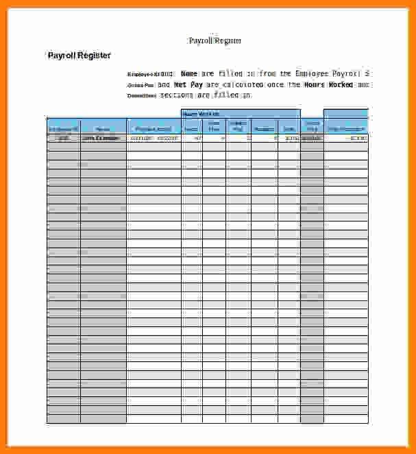 Employee Payroll Ledger Template 5 Payroll Ledger Template
