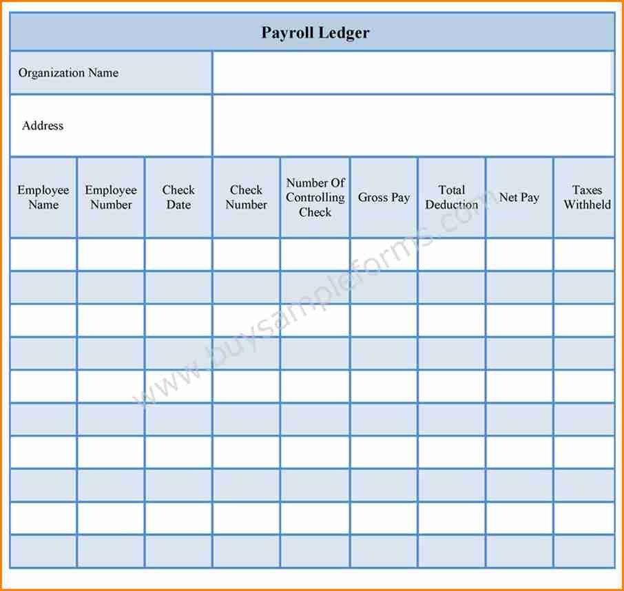 Employee Payroll Ledger Template 9 Employee Payroll Ledger Template
