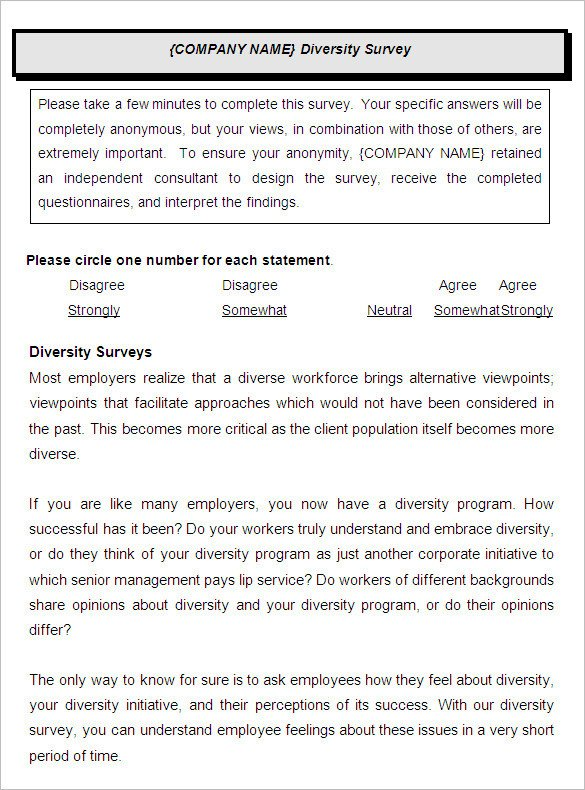 Employee Satisfaction Survey Template 9 Employee Satisfaction Survey Templates & Samples Doc