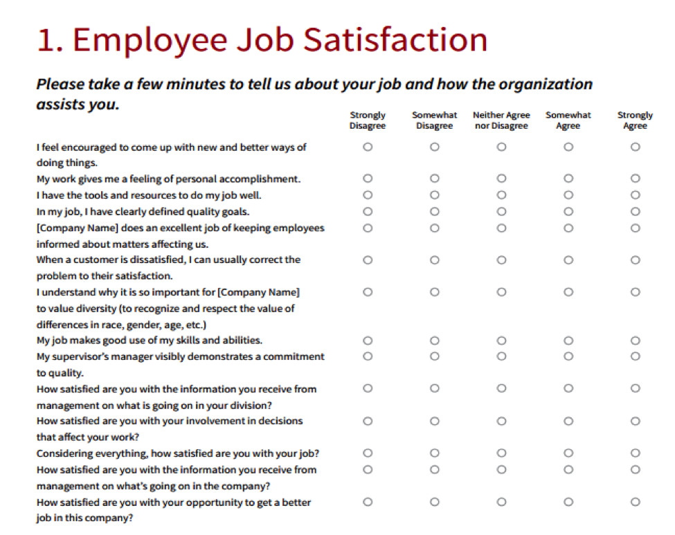 Employee Satisfaction Survey Template How Happy are Your Employees Find Out now