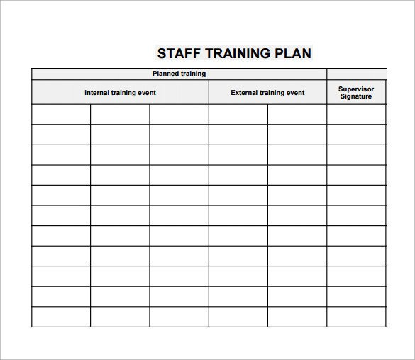 Employee Training Plan Template Training Plan Template 20 Download Free Documents In