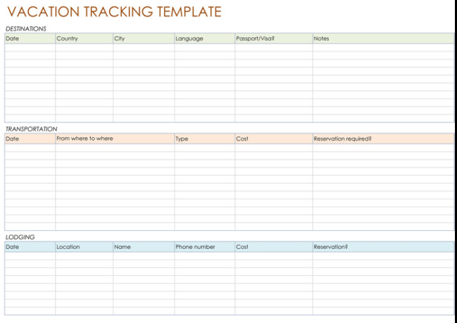 Employee Vacation Planner Template Excel 5 Best Vacation Tracking Templates to Track Your Vacations
