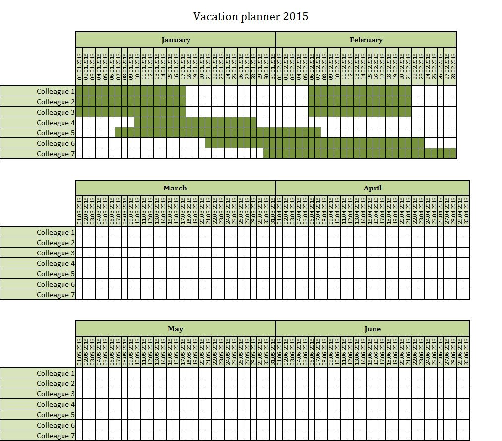 Employee Vacation Planner Template Excel May 2018 – Template Calendar Design