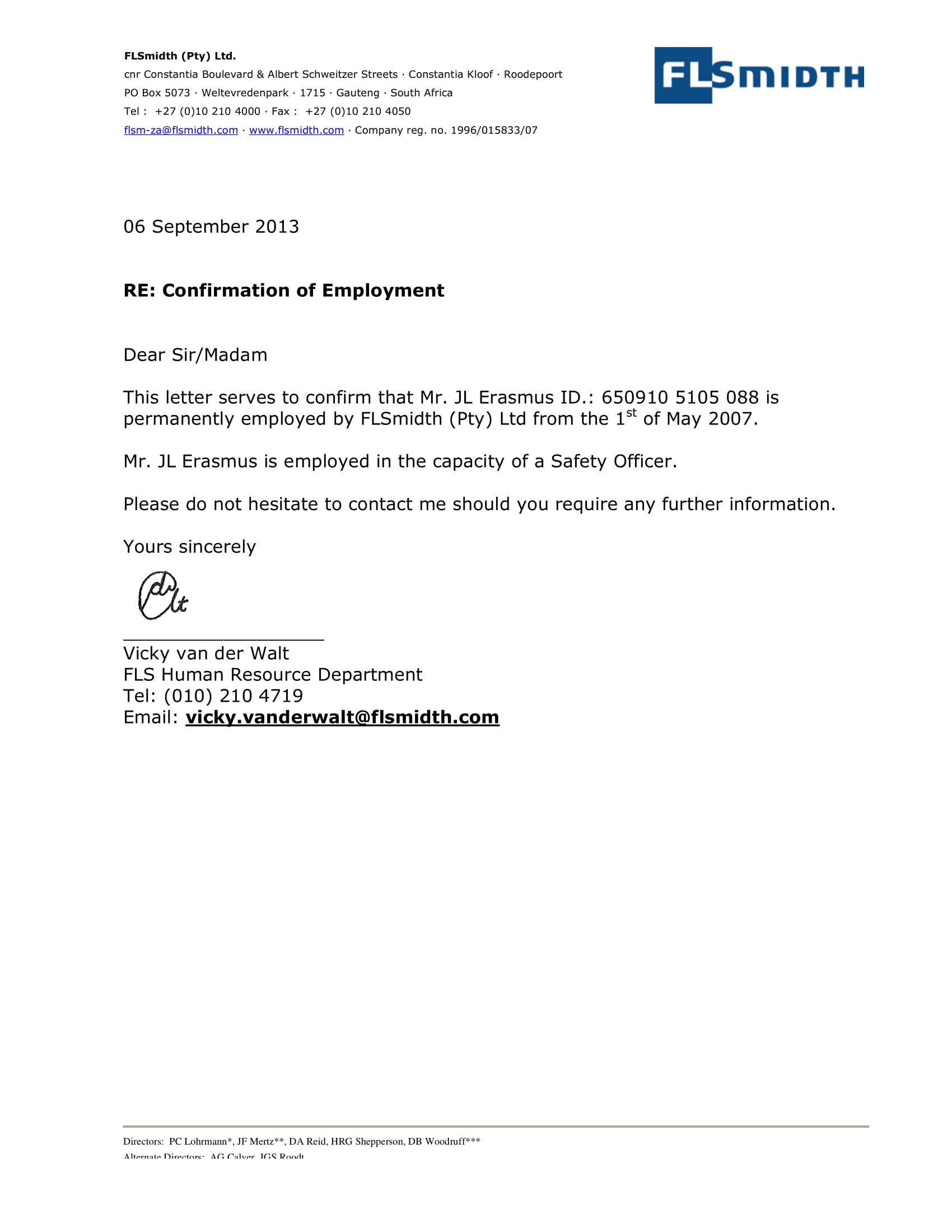 Employee Verification Letter Template 14 Employment Verification Letter Examples Pdf Doc