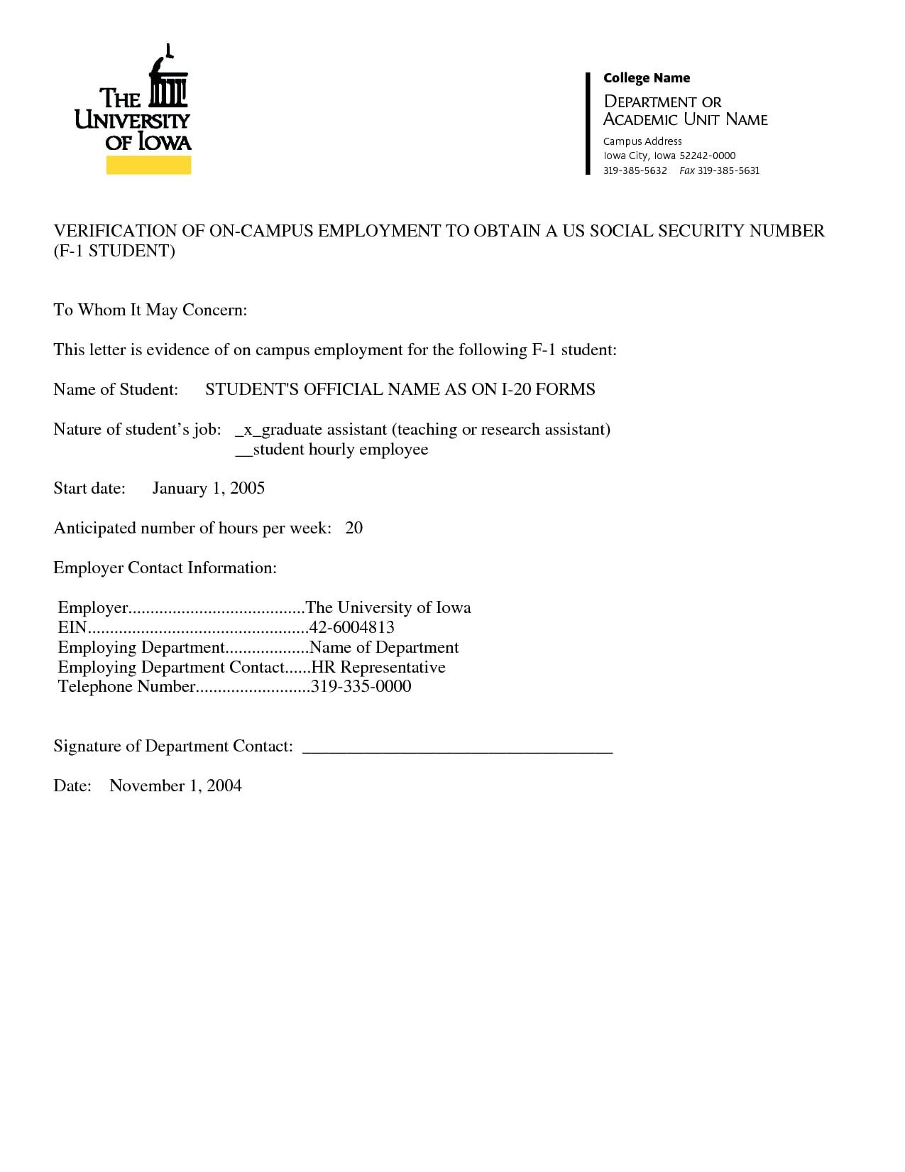 Employee Verification Letter Template 9 Verification Of Employment Letter Examples Pdf