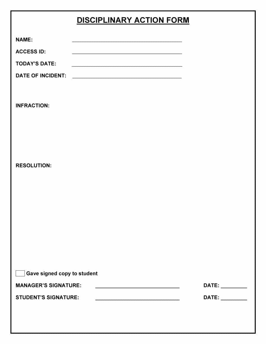 Employee Write Up form Template 46 Effective Employee Write Up forms [ Disciplinary