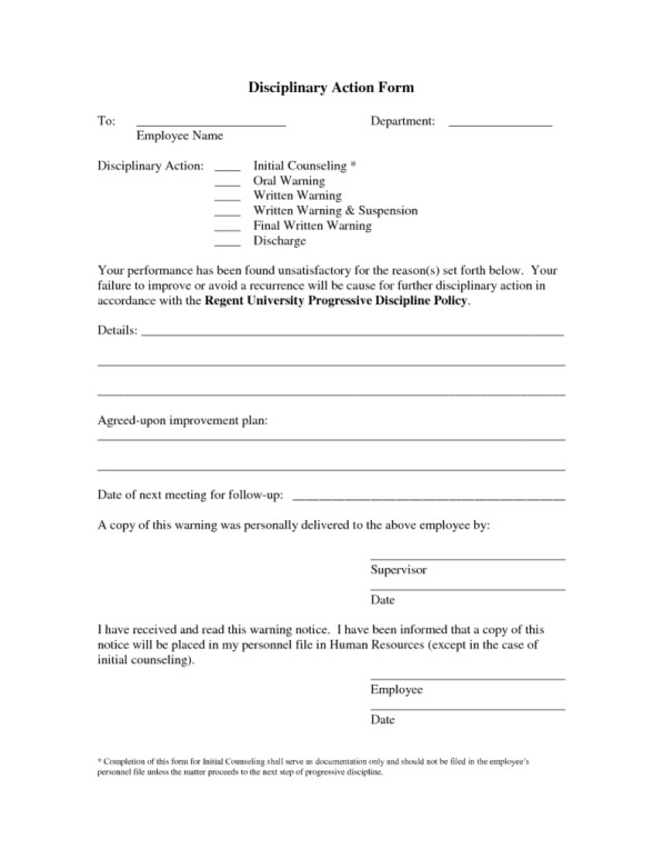 Employee Write Up form Template Employee Write Up form Templates Word Excel Samples