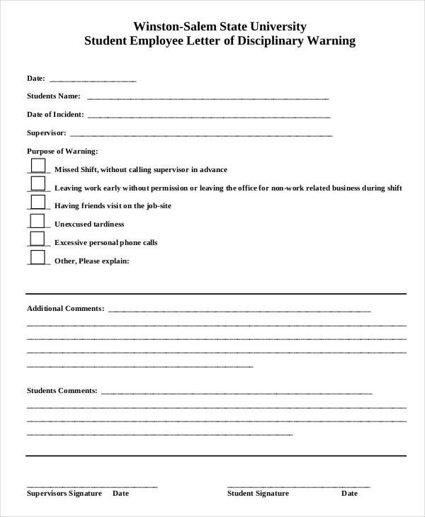 Employee Write Up Templates Employee Write Up form 6 Free Word Pdf Documents