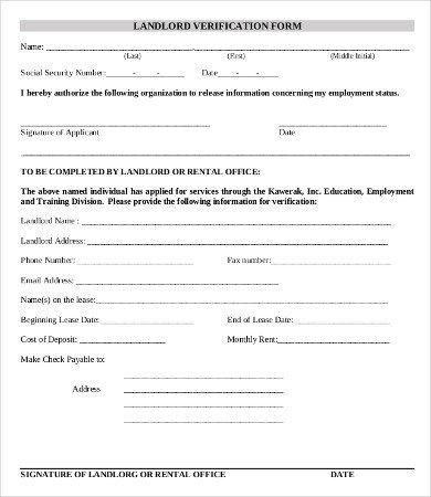 Employment Verification forms Template Employment Verification form Template 5 Free Pdf