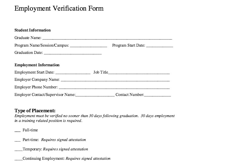 Employment Verification forms Template General Motors Employment Verification Impremedia