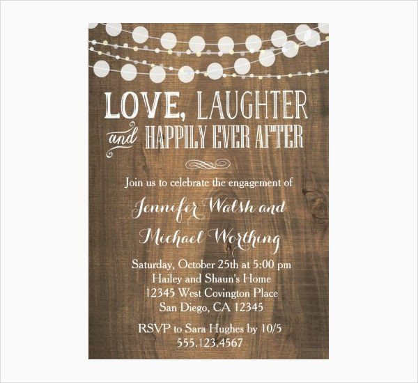 Engagement Party Invitation Templates 14 Engagement Party Invitations Psd Ai Vector Eps