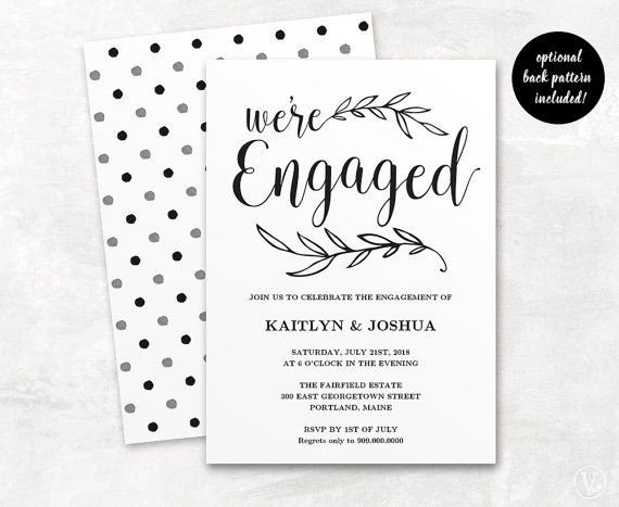 Engagement Party Invitation Templates Best 25 Engagement Invitation Template Ideas On Pinterest