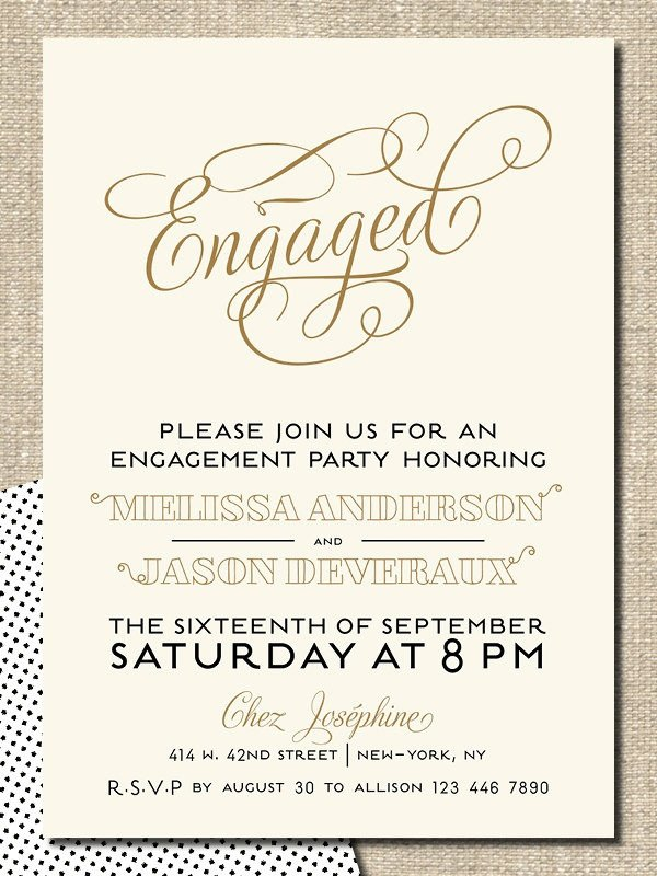 Engagement Party Invitation Templates Card Template Engagement Party Invitation Card