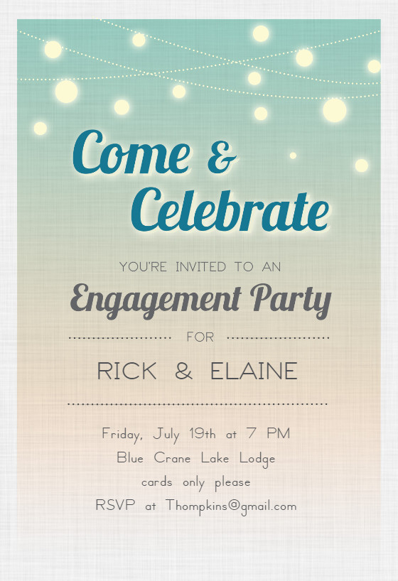 Engagement Party Invitation Templates Celebrate Engagement Engagement Party Invitation