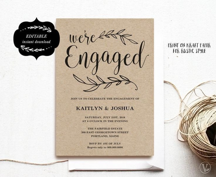 Engagement Party Invitation Templates Engagement Invitation Template Printable Engagement Party