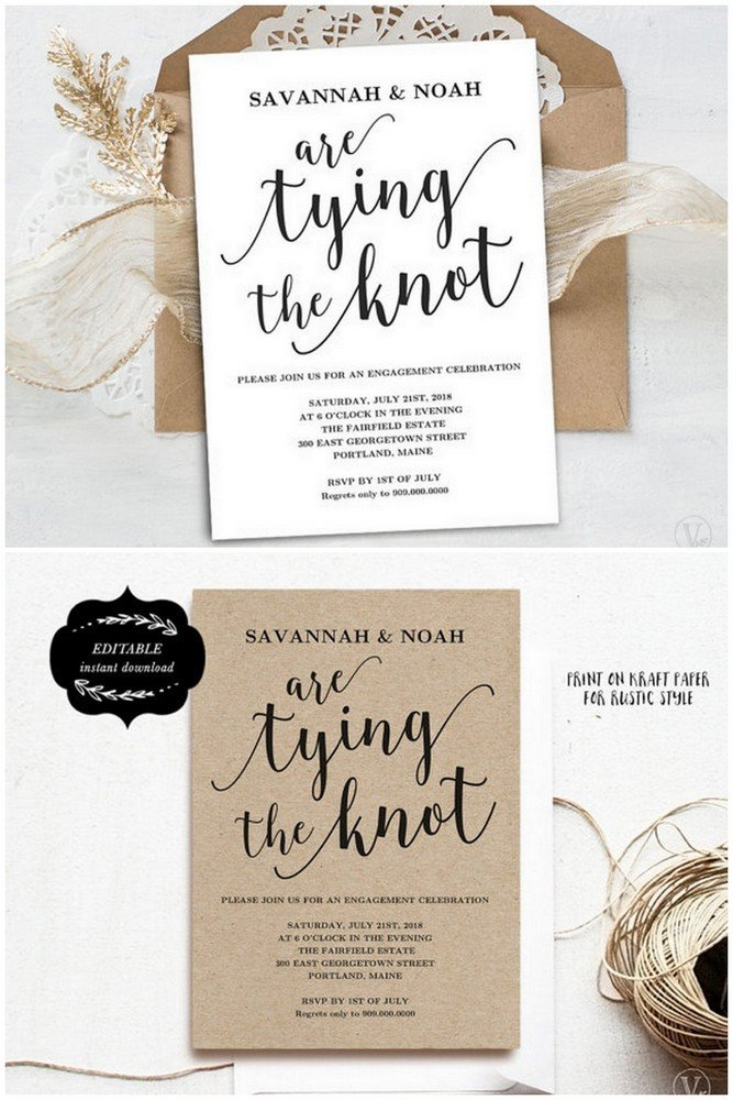 Engagement Party Invitations Templates 22 Engagement Party Invitations You Ll Want to Say Yes to