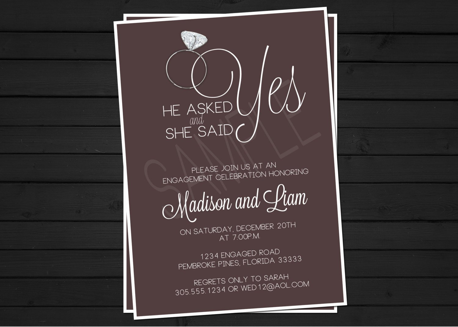 Engagement Party Invitations Templates Engagement Party Invitation Digital File by Shestutucutebtq