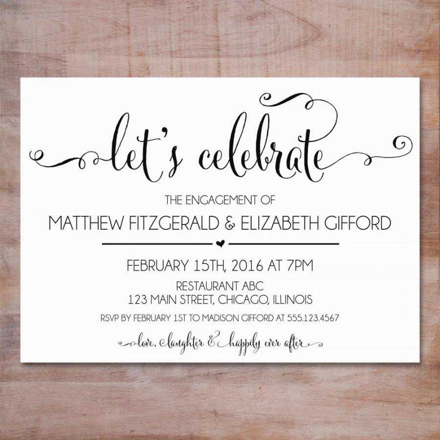 Engagement Party Invitations Templates Engagement Party Invitation We Re Engaged Invitation